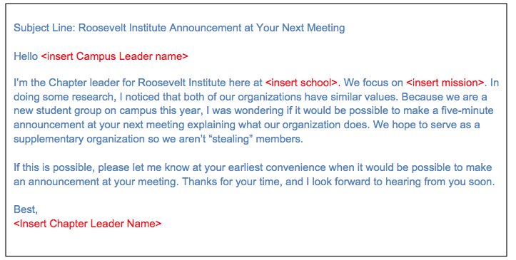 Meeting Appointment Letter Template